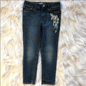 🍁 ROUTE66 Jeans sequined blue silver girl 6